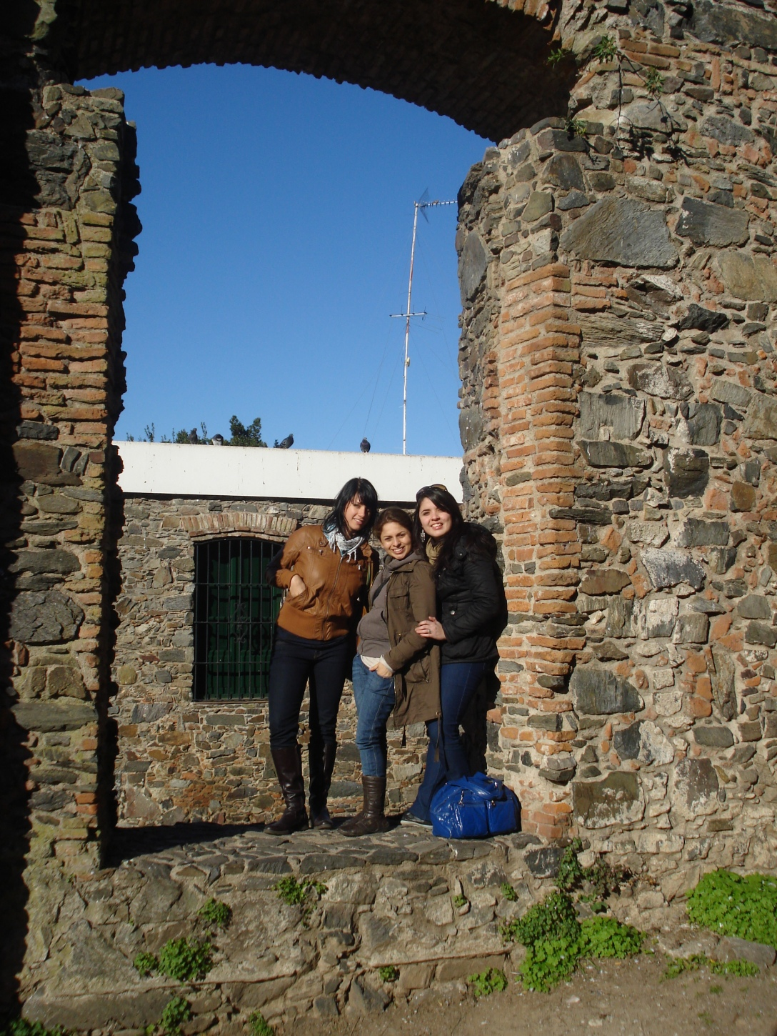 Me, Alejandra, and Bia...beautiful sunny day, but cold!