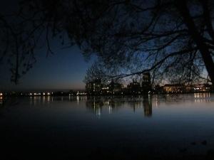 dusk over the Ottawa river