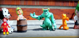 a few more kid friendly viejos...including Sully from Monsters inc,