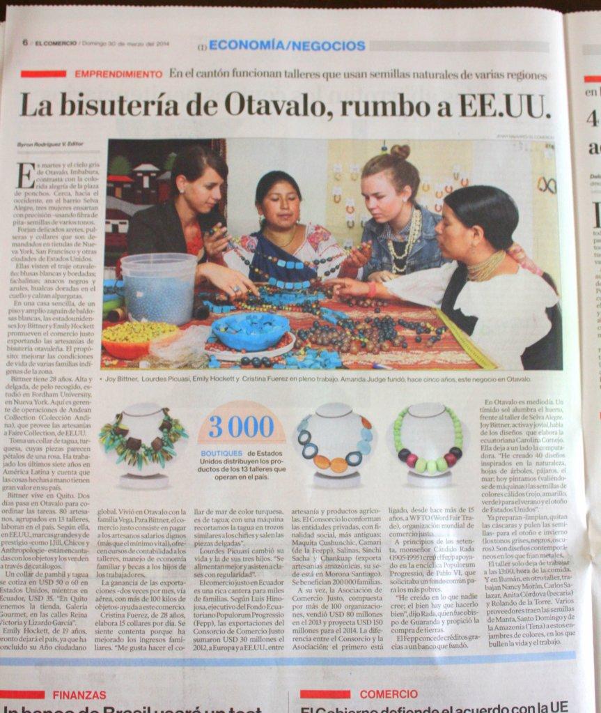 El Comercio: Faire Collection