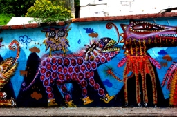 Street art of Quito
