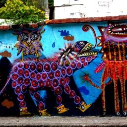 Street art of Quito