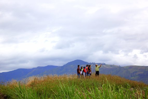 explaining the view - Imbaburra, Ecuador