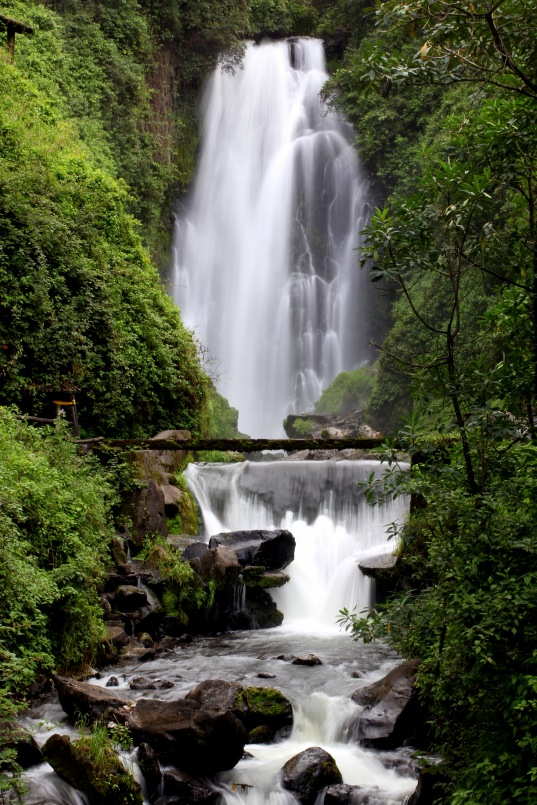 Waterfall in Peguche, Otavalo